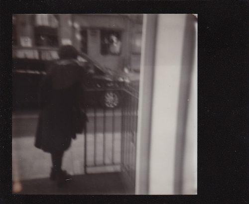 stranger outside gallery